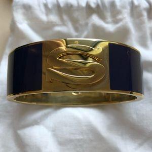 C. Wonder initial oval hinged bangle bracelet